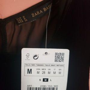 Zara Pants - Black Velvet Sheer Back Zara Jumpsuit NWT